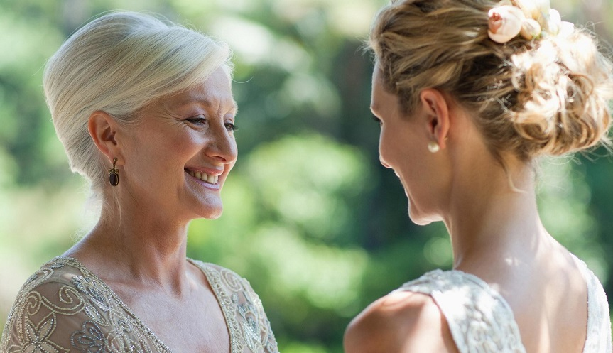 Mother bride on wedding day
